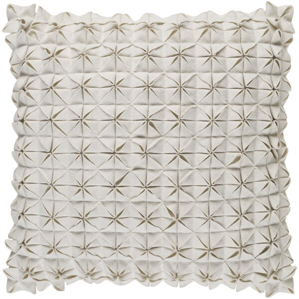 Ebro Structure 100% Wool Throw Pillow Cover by Brayden Studio